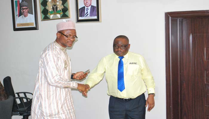 AMMC MD, Engr. Ernest Mupwaya visits AEDC, Discusses 24 Hrs electricity supply to FCT
