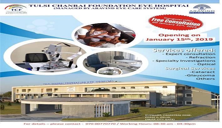 Chanrai Family  Constructs an Eye Hospital in Abuja, Nigeria.